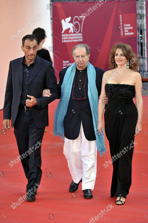 Stock Picture of Guest with Tinto Brass, Caterina Varzi
