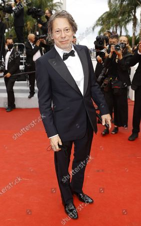 Mathieu Amalric arrives for the screening of 'Les Intranquilles' (The Restless) during the 74th annual Cannes Film Festival, in Cannes, France, 16 July 2021. The movie is presented in the Official Competition of the festival which runs from 06 to 17 July.