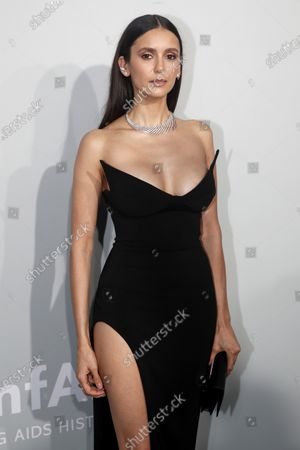 Nina Dobrev attends the Cinema Against AIDS amfAR gala 2021 held at the Hotel du Cap, Eden Roc in Cap d'Antibes, France, 16 July 2021, within the scope of the 74th annual Cannes Film Festival.