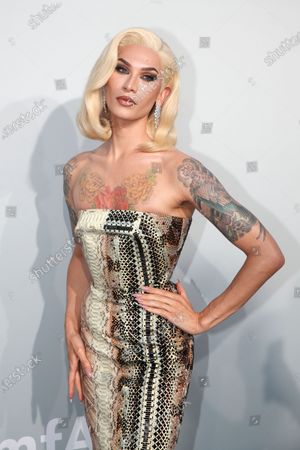 Miss Fame attends the Cinema Against AIDS amfAR gala 2021 held at the Hotel du Cap, Eden Roc in Cap d'Antibes, France, 16 July 2021, within the scope of the 74th annual Cannes Film Festival.