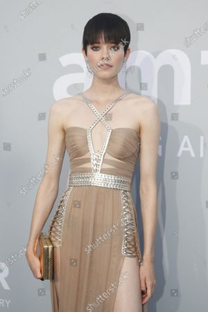 Maike Inga attends the Cinema Against AIDS amfAR gala 2021 held at the Hotel du Cap, Eden Roc in Cap d'Antibes, France, 16 July 2021, within the scope of the 74th annual Cannes Film Festival.