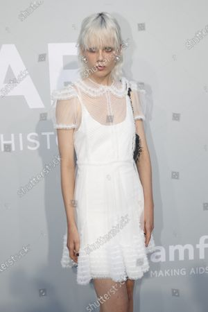 Marjan Jonkman attends the Cinema Against AIDS amfAR gala 2021 held at the Hotel du Cap, Eden Roc in Cap d'Antibes, France, 16 July 2021, within the scope of the 74th annual Cannes Film Festival.