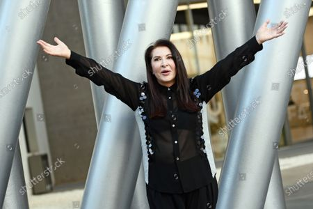 """The artist Marina Abramovic attends for the talk on the occasion of the exhibition """"Più grande di me"""" (Bigger Than Me). Heroic voices from the former Yugoslavia, in which she too is present with her opera Rhythm 0, one of her best known and most demanding performances"""