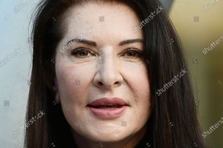 """The artist Marina Abramovic attends for the talk on the occasion of the exhibition """"Pi? grande di me"""" (Bigger Than Me). Heroic voices from the former Yugoslavia, in which she too is present with her opera Rhythm 0, one of her best known and most demanding performances"""