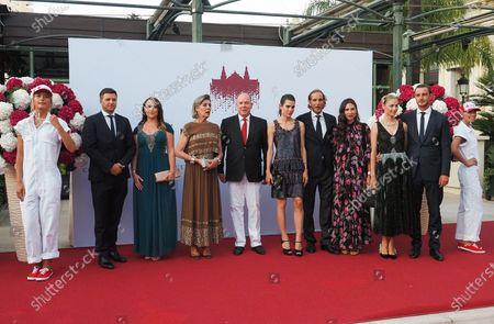 Gareth Wittstock, Roisin Wittstock, Princess Caroline of Hanover, Prince Albert II of Monaco, Charlotte Casiraghi Rassam, Andrea Casiraghi, Tatiana Santo Domingo, Beatrice Borromeo and Pierre Casiraghi
