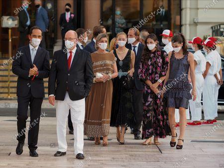 Prince Albert II of Monaco, Princess Caroline of Hanover, Beatrice Borromeo, Andrea Casiraghi, Tatiana Santo Domingo and Charlotte Rassam