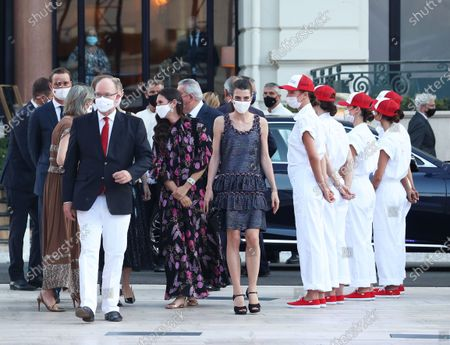 Prince Albert II of Monaco, Princess Caroline of Hanover, Beatrice Borromeo, Tatiana Santo Domingo and Charlotte Rassam