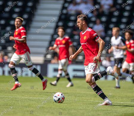 Nemanja Matic of Manchester United; Pride Park, Derby, East Midlands; Pre Season Friendly Football, Derby County versus Manchester United.