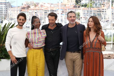 Pierre Niney, Fatou N'Diaye, Nicolas Bedos, Jean Dujardin and Natacha Lindinger