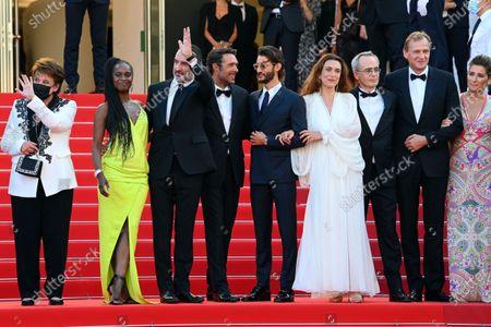 Roselyne Bachelot, Fatou N'Diaye,Jean Dujardin, Nicolas Bedos, Pierre Niney and Natacha Lindinger