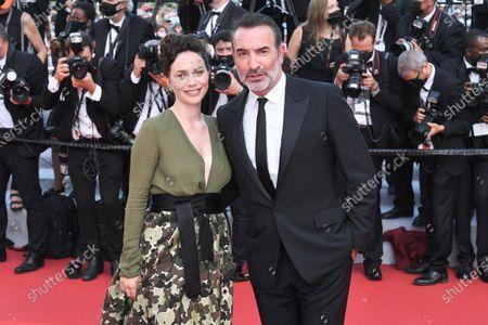 Stock Image of Jean Dujardin and Nathalie Pechalat