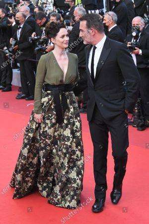 Jean Dujardin and Nathalie Pechalat