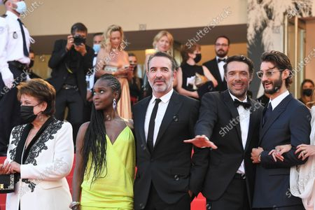 Fatou N'Diaye, Jean Dujardin, Nicolas Bedos and Pierre Niney