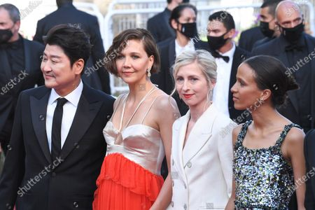 Stock Image of Song Kang-Ho, Maggie Gyllenhaal, Jessica Hausner and Mati Diop