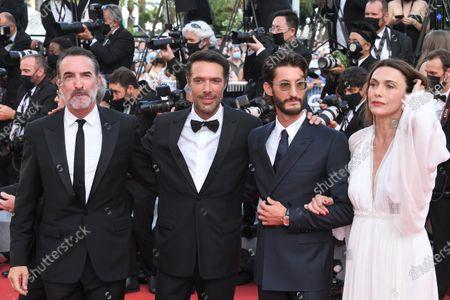 Stock Picture of Jean Dujardin, Nicolas Bedos, Pierre Niney and Natacha Lindinger