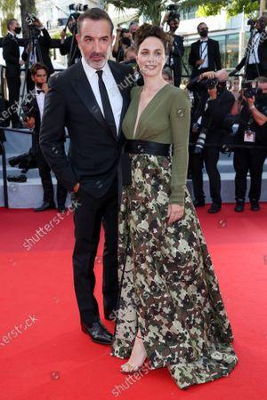Stock Photo of Jean Dujardin and Nathalie Pechalat