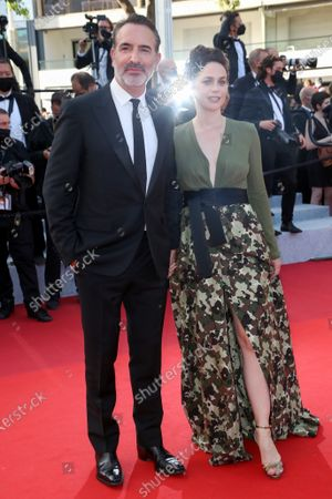 Stock Picture of Jean Dujardin and Nathalie Pechalat