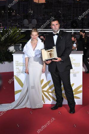 Frank Graziano on behalf of director Antoneta Alamat Kusijanovic  - Camera d'Or Prize - â€Muria†- with Melanie Thierry