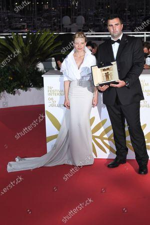 Frank Graziano on behalf of director Antoneta Alamat Kusijanovic  - Camera d'Or Prize - 'Muria' - with Melanie Thierry