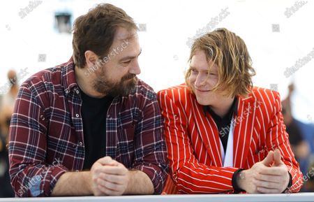 Justin Kurzel (L) and Caleb Landry Jones pose during the photocall for 'Nitram' at the 74th annual Cannes Film Festival, in Cannes, France, 17 July 2021. The movie is presented in the Official Competition of the festival which runs from 06 to 17 July.