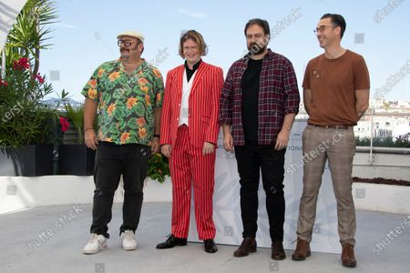 Nick Batzias, Caleb Landry Jones, director Justin Kurzel and Shaun Grant pose during the photocall for 'Nitram' at the 74th annual Cannes Film Festival, in Cannes, France, 17 July 2021. The movie is presented in the Official Competition of the festival which runs from 06 to 17 July.