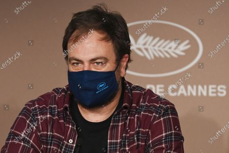 """Stock Image of Justin Kurzel attends the press conference for 'Nitram' during the 74th annual Cannes Film Festival, in Cannes, France, 17 July 2021. The movie is presented in the Official Competition of the festival which runs from 06 to 17 July.  *** Local Caption *** CANNES, FRANCE - JULY 17: Director Justin Kurzel attends the """"Nitram"""" press conference during the 74th annual Cannes Film Festival on July 17, 2021 in Cannes, France. (Photo by Kate Green/Getty Images)"""