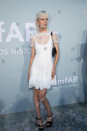 Marjan Jonkman poses for photographers upon arrival at the amfAR Cinema Against AIDS benefit the during the 74th Cannes international film festival, Cap d'Antibes, southern France