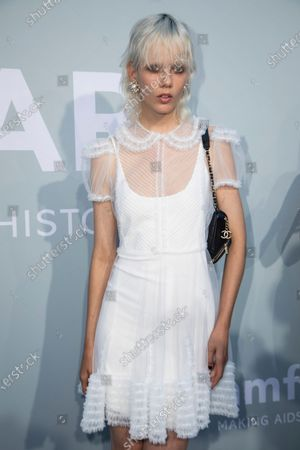 Stock Photo of Marjan Jonkman poses for photographers upon arrival at the amfAR Cinema Against AIDS benefit the during the 74th Cannes international film festival, Cap d'Antibes, southern France