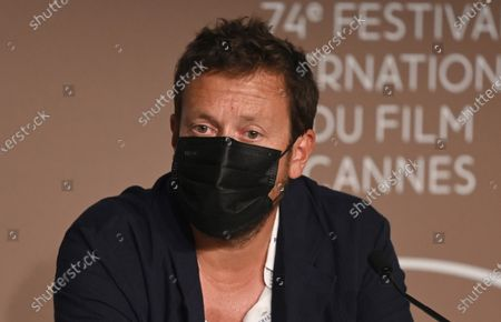 Joachim Lafosse attends the press conference for 'Les Intranquilles (The Restless)' during the 74th annual Cannes Film Festival, in Cannes, France, 17 July 2021. The movie is presented in the Official Competition of the festival which runs from 06 to 17 July.