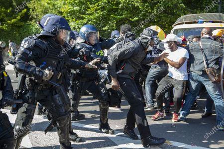 Editorial image of Protest against Cameroon's president presence in Geneva, Geneva Geneve Genf, Switzerland - 17 Jul 2021