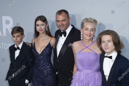 Stock Image of Helena Gatsby, Milutin Gatsby, Sharon Stone and Roan Joseph Bronstein Stone