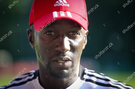 Stock Photo of Standard's head coach Mbaye Leye pictured after a friendly soccer game between Belgian Standard de Liege and French Stade Rennais Football Club, Saturday 17 July 2021 in Liege.