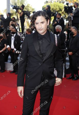 Nicolas Maury arrives for the Closing Awards Ceremony of the 74th annual Cannes Film Festival, in Cannes, France, 17 July 2021. The Golden Palm winning movie will be screened after the closing ceremony.