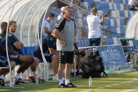Coventry City's head coach Mark Robins reacts during the pre-season friendly soccer match between Sevilla FC and Coventry City held in San Pedro del Pinatar, Murcia, Spain, 17 July 2021.