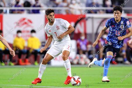 Marco Asensio (ESP) - Football / Soccer :  KIRIN Challenge Cup 2021  match between U-24 Japan 1-1 U-24 Spain  at Noevir Stadium Kobe in Hyogo, Japan.