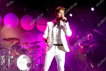 David Bisbal perfoms on stage during Marble Music Fest celebrated at Macael, Almeria, Andalusia, Spain, 17 July 2021.