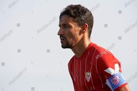 Stock Image of Jesus Navas of Sevilla during a pre-season friendly match between Sevilla CF and Coventry City at Pinatar Arena on July 17, 2021 in Murcia, Spain.