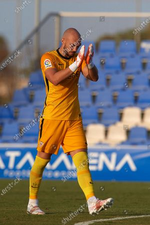 Marko Dmitrovic of Sevilla during a pre-season friendly match between Sevilla CF and Coventry City at Pinatar Arena on July 17, 2021 in Murcia, Spain.