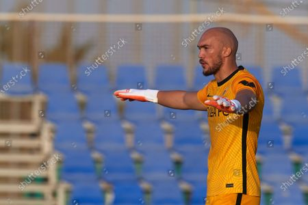 Marko Dmitrovic of Sevilla gives instructions during a pre-season friendly match between Sevilla CF and Coventry City at Pinatar Arena on July 17, 2021 in Murcia, Spain.