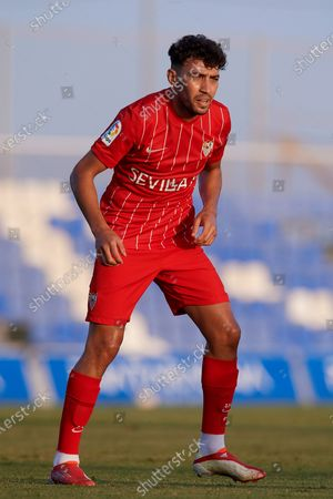 Stock Picture of Munir El Haddadi of Sevilla during the pre-season friendly match between Sevilla CF and Coventry City at Pinatar Arena on July 17, 2021 in Murcia, Spain.