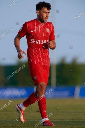 Munir El Haddadi of Sevilla during the pre-season friendly match between Sevilla CF and Coventry City at Pinatar Arena on July 17, 2021 in Murcia, Spain.