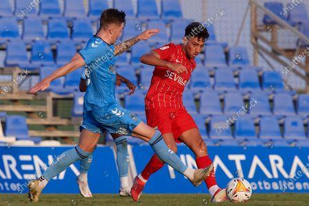 Munir El Haddadi of Sevilla in action during the pre-season friendly match between Sevilla CF and Coventry City at Pinatar Arena on July 17, 2021 in Murcia, Spain.