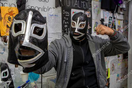 Editorial photo of 'Wrestler Rayo De Jalisco' Autograph Signing, Mexico City, Mexico - 17 Jul 2021