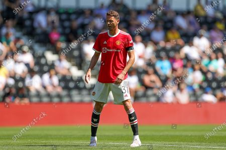 Nemanja Matic (31) of Manchester United during the Pre-Season Friendly match between Derby County and Manchester United at the Pride Park, Derby