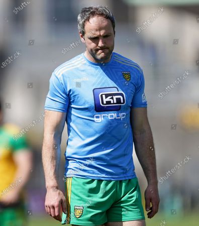 Donegal vs Tyrone. Donegal's Michael Murphy dejected after the game