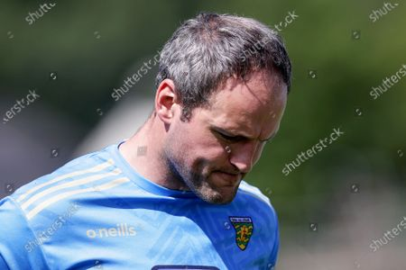 Stock Image of Donegal vs Tyrone. Donegal's Michael Murphy dejected after the game