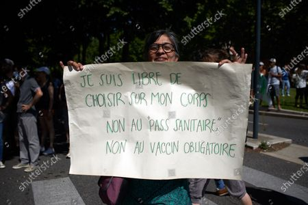 Editorial photo of Protest Against The Health Pass And The Near Mandatory Vaccination, Toulouse, France - 17 Jul 2021