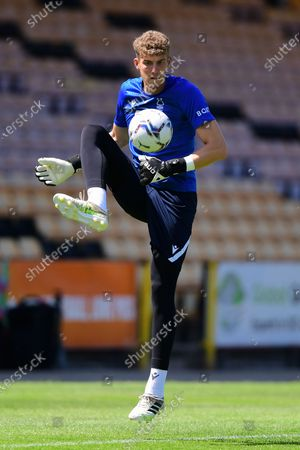 Jordan Wright (47) of Nottingham Forest warms up ahead of kick-off during the Pre-season Friendly match between Port Vale and Nottingham Forest at Vale Park, Burslem on Saturday 17th July 2021.