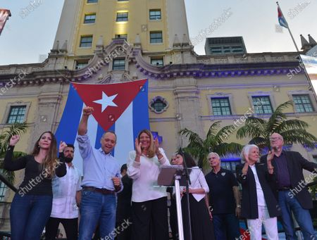 Editorial picture of Cuban community demonstration, Miami, Florida, USA - 17 Jul 2021
