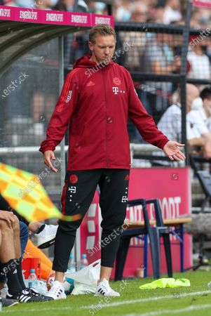 disappointment with head coach Julian Nagelsmann (FC Bayern Munich), FC Bayern Munich vs. 1 FC Cologne, test game, 17.07.2021/action press